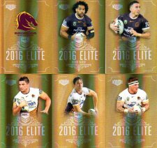 2016 NRL Elite Special Gold 12-Card Complete Team Set Brisbane Broncos