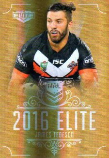 2016 NRL Elite Special Gold #SG191 James Tedesco Tigers