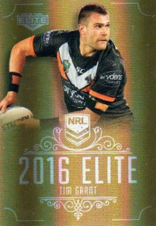 2016 NRL Elite Special Gold #SG185 Tim Grant Tigers
