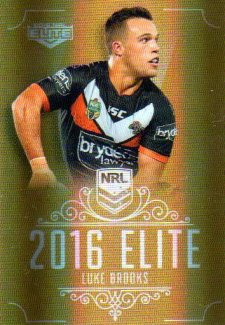 2016 NRL Elite Special Gold #SG182 Luke Brooks Tigers