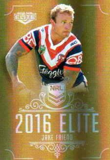 2016 NRL Elite Special Gold #SG161 Jake Friend Roosters