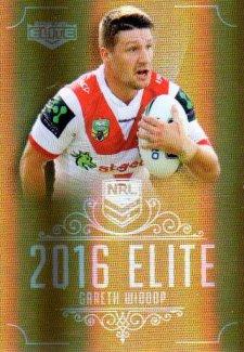2016 NRL Elite Special Gold #SG156 Gareth Widdop Dragons