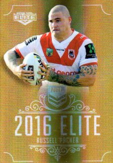 2016 NRL Elite Special Gold #SG154 Russell Packer Dragons