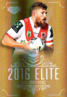 2016 NRL Elite Special Gold #SG152 Will Matthews Dragons