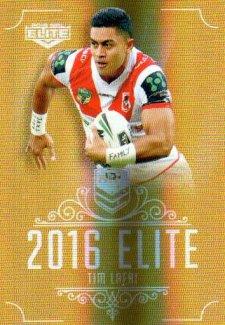 2016 NRL Elite Special Gold #SG150 Tim Lafai Dragons