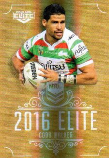 2016 NRL Elite Special Gold #SG144 Cody Walker Rabbitohs