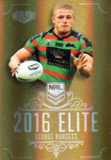 2016 NRL Elite Special Gold #SG135 George Burgess Rabbitohs