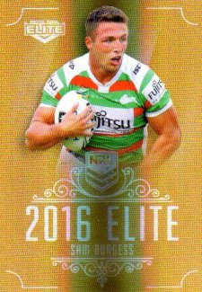 2016 NRL Elite Special Gold #SG134 Sam Burgess Rabbitohs