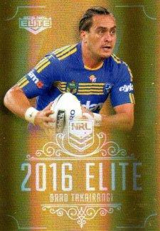 2016 NRL Elite Special Gold #SG119 Brad Takairangi Eels