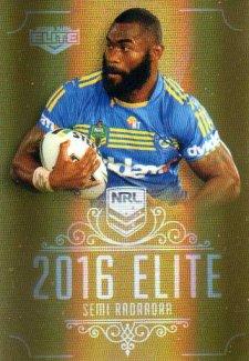 2016 NRL Elite Special Gold #SG117 Semi Radradra Eels