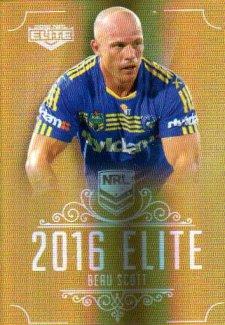 2016 NRL Elite Special Gold #SG118 Beau Scott Eels