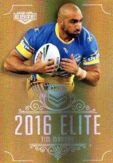 2016 NRL Elite Special Gold #SG115 Tim Mannah Eels