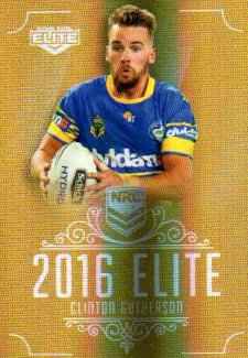 2016 NRL Elite Special Gold #SG113 Clinton Gutherson Eels