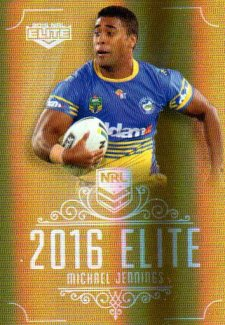 2016 NRL Elite Special Gold #SG114 Michael Jennings Eels