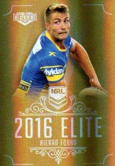 2016 NRL Elite Special Gold #SG111 Kieran Foran Eels