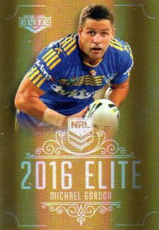 2016 NRL Elite Special Gold #SG112 Michael Gordon Eels