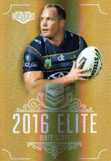 2016 NRL Elite Special Gold #SG105 Matt Scott Cowboys