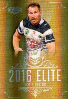 2016 NRL Elite Special Gold #SG99 Scott Bolton Cowboys