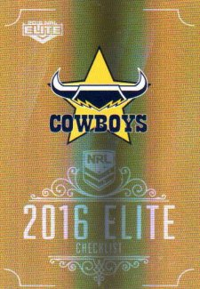 2016 NRL Elite Special Gold #SG97 Checklist Cowboys