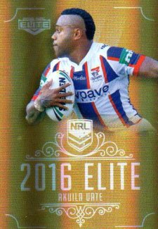 2016 NRL Elite Special Gold #SG96 Akuila Uate Knights