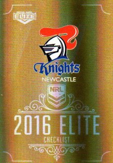 2016 NRL Elite Special Gold #SG85 Checklist Knights