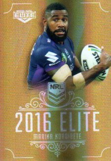 2016 NRL Elite Special Gold #SG80 Marika Koroibete Storm