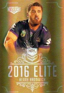 2016 NRL Elite Special Gold #SG75 Kenny Bromwich Storm