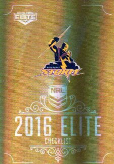 2016 NRL Elite Special Gold #SG73 Checklist Storm