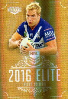 2016 NRL Elite Special Gold #SG36 Aiden Tolman Bulldogs
