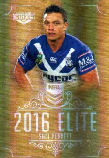 2016 NRL Elite Special Gold #SG34 Sam Perrett Bulldogs