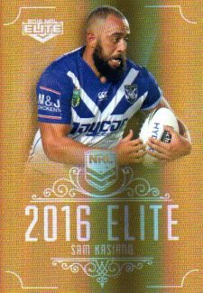 2016 NRL Elite Special Gold #SG31 Sam Kasiano Bulldogs