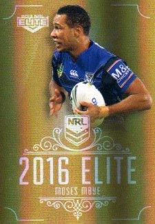 2016 NRL Elite Special Gold #SG32 Moses Mbye Bulldogs
