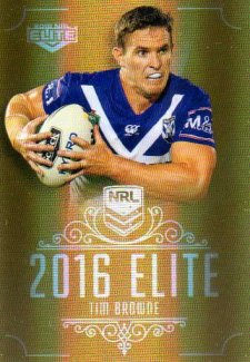 2016 NRL Elite Special Gold #SG26 Tim Browne Bulldogs