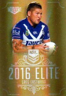 2016 NRL Elite Special Gold #SG27 Greg Eastwood Bulldogs
