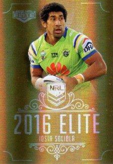 2016 NRL Elite Special Gold #SG21 Iosia Soliola Raiders