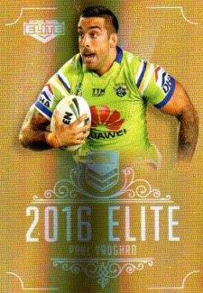 2016 NRL Elite Special Gold #SG22 Paul Vaughn Raiders