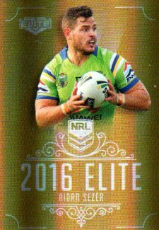 2016 NRL Elite Special Gold #SG20 Aidan Sezer Raiders