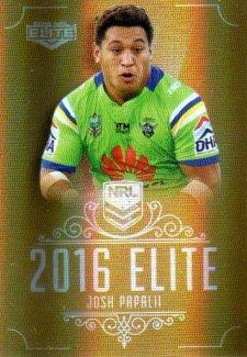 2016 NRL Elite Special Gold #SG18 Josh Papalii Raiders