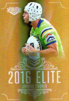 2016 NRL Elite Special Gold #SG16 Jarrod Croker Raiders