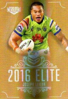 2016 NRL Elite Special Gold #SG17 Joseph Leilua Raiders