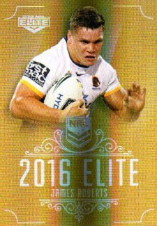 2016 NRL Elite Special Gold #SG11 James Roberts Broncos