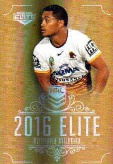 2016 NRL Elite Special Gold #SG7 Anthony Milford Broncos