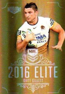 2016 NRL Elite Special Gold #SG4 Matt Gillett Broncos