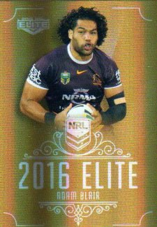 2016 NRL Elite Special Gold #SG2 Adam Blair Broncos