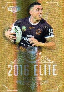 2016 NRL Elite Special Gold #SG3 Darius Boyd Broncos
