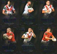 2016 NRL Elite 12-Card Base Team Set South St George Dragons