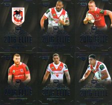 2016 NRL Elite 12-Card Base Team Set St George Dragons