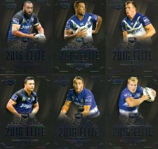 2016 NRL Elite 12-Card Base Team Set Canterbury Bulldogs