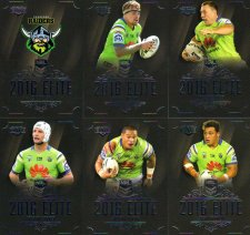 2016 NRL Elite 12-Card Base Team Set Canberra Raiders
