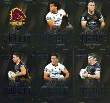 2016 NRL Elite 12-Card Base Team Set Brisbane Broncos